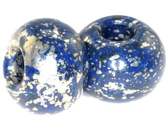 5 pieces Lapis Rondelle Pendant Bead 18mm J40B2438