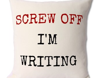 gift for writer,writer cushion,writer gifts,novelist gift,poet gift,poetry writer,author gift,cushion gifts,funny cushion,writing lover