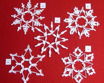 PDF Patterns for 5 Crocheted Snowflakes - set 18