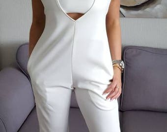 Cream Jumpsuit. Including FREE shipping