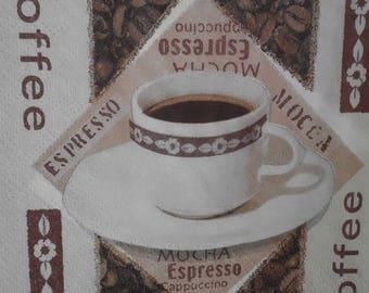 paper coffee Espresso 24x24cm 010-towel