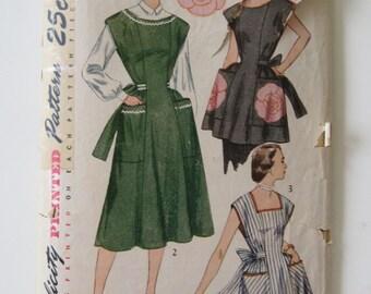 Simplicity Vintage 1951 Housedress Apron Pattern Size 12