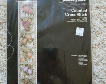 Janlynn Teresa Wentzler Fruit Bellpull Cross Stitch Kit