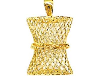 Limited Edition - 18K 21K 22K Yellow Gold Filigree Pendant Necklace Beautiful Jewelry for Her