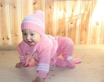 Vintage baby girl clothes Retro baby girl set Soviet baby girl clothing Vintage baby girl 70s 80s Soviet toddler set
