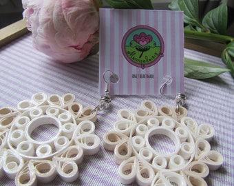White Paper filigree Earrings-MoD. Vivian