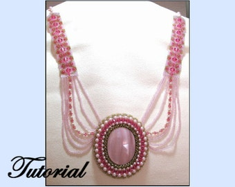 Fancy Embellished Cabochon Beaded Necklace
