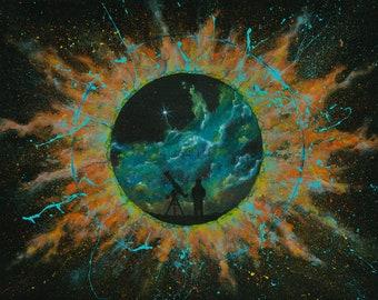 I, Astronomer by KenikomoArt - Fine Art Giclee Print