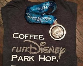Coffee. runDisney. Patk Hop. Repeat/ runDisney inspired shirt