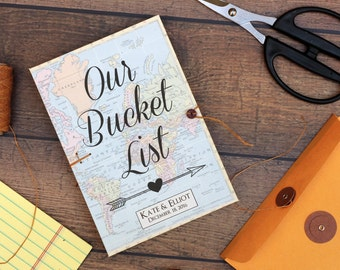 Bucket List Journal, Personalized Wedding Anniversary or Retirement Gift, Our Bucket List for the Bride and Groom, You are my Bucket List