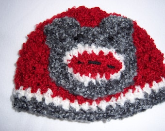 Sock Monkey Hat - 3 to 12 Month Old