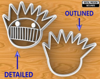 Boognish Cookie Cutter, Selectable sizes