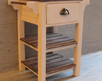 Dolls House 1/12th Scale Single Drawer Workstation