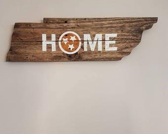 TN reclaimed wood sign