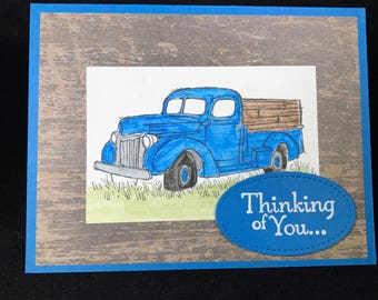 Pickup Truck Thinking of You Card