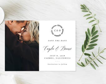 Photo Save the Date, Minimal Save the Date, Formal Save the Date, Simple Photo Save the Date