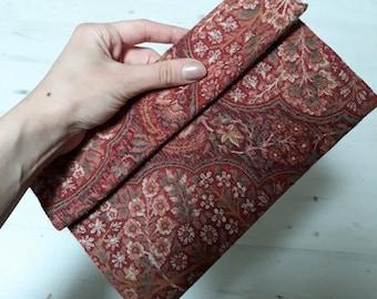 Handmade Vintage style clutch bag