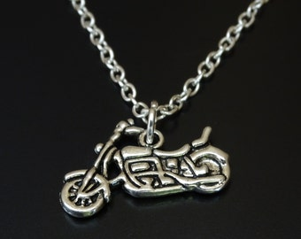 Motorcycle Necklace, Motorcycle Charm, Motorcycle Pendant, Motorcycle Jewelry, Motorcycle Gifts, Biker Jewelry, Biker Chick, Biker Girl