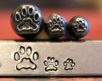 Dog Paw 3 Stamp Metal Design Stamp Set - Metal Stamp - Metal Stamping and Jewelry Tool - SG-375-44M-50NJ-7
