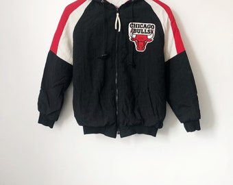 vintage chicago bulls coat swingster kids size large 90s made in USA