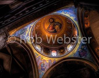 Church of the Holy Sepulchre 8, Jerusalem, 8x10 Fine Art HDR Israel Photo