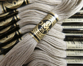 DMC 644, Medium Beige Gray, DMC Cotton Embroidery Floss - 8m Skeins - Full (12-skein) Boxes - Get Up To 50% OFF, see Description