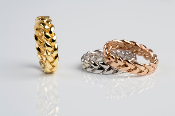 braided shop esqueleto small rings gold ring braid rose