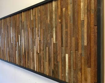 Reclaimed Barn Wood Wall Art (Vertical Slats)  FREE SHIPPING!