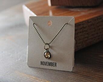 November Ball Chain Charm Necklace