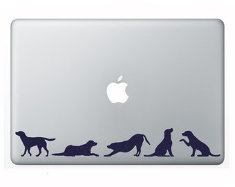 Pack Of Dogs Velvet Stickers - Dog Lovers Decals - Dog Silhouette Phone Stickers - Animals Laptop Decal - Labrador Fabric Window decals