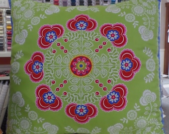 Floral Throw Pillow Cover with Envelope Back