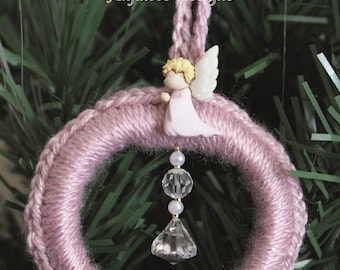 Angel Christmas Tree Decoration Pink Large