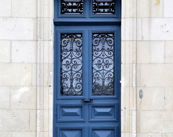 French blue door photo French door canvas French door print french photography blue and white ornate door photo france photo & French Country Decor Door Photography Art Prints of Doors