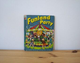 S A L E Vintage children's book Funland Party (1953)