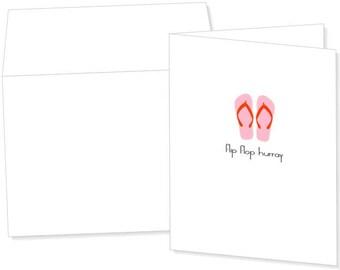 Flip Flop Greeting Card
