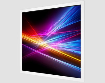 Abstract Night Print - Canvas - No Frame