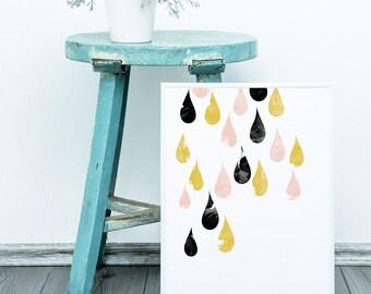 Raindrops are Falling Print