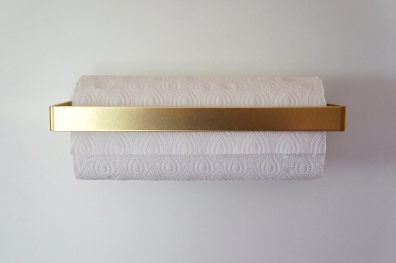 description beautiful paper towel holder . brass kitchen roll holder