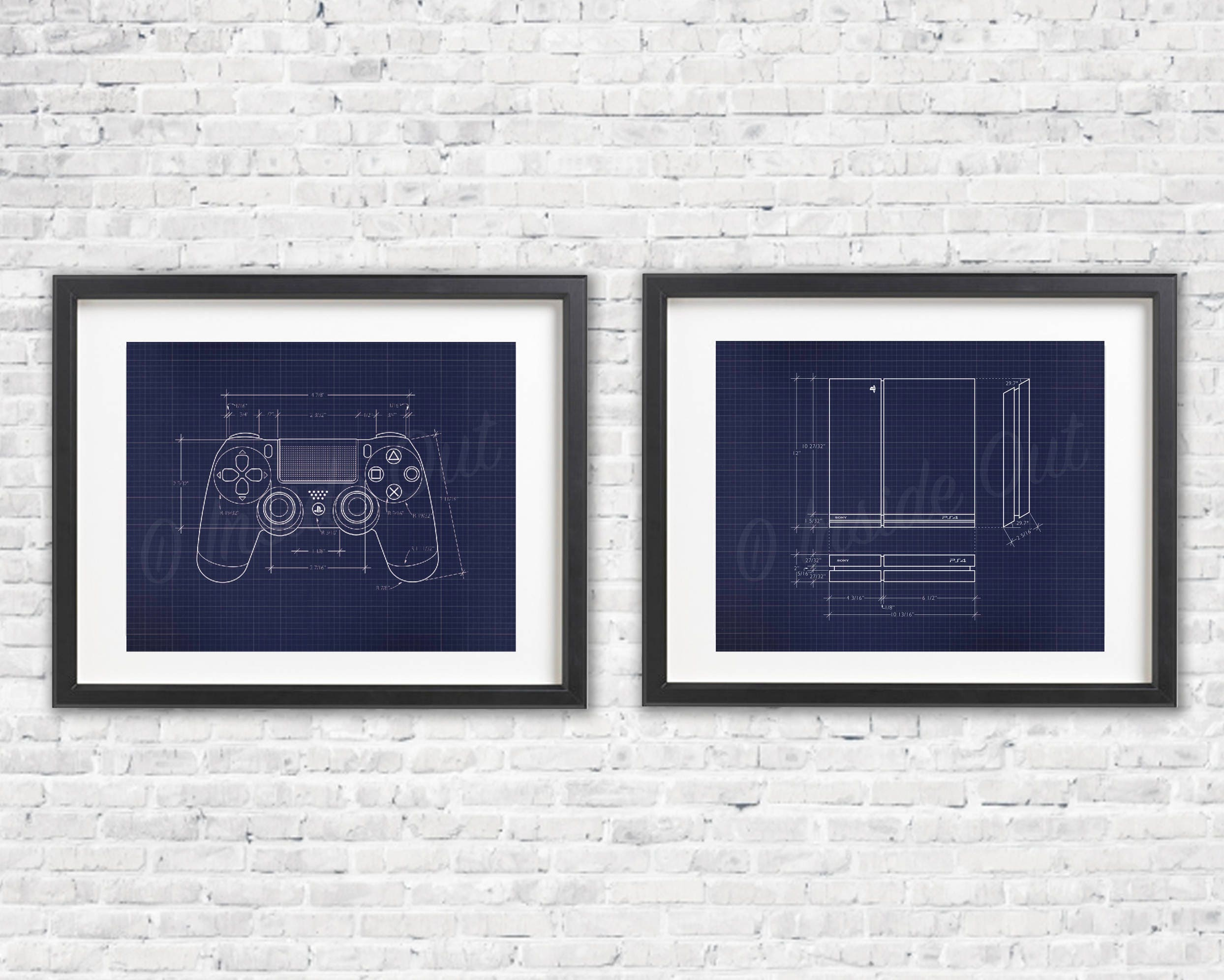Two print ps4 gift set blueprint game poster gamer wall ampliar malvernweather Gallery