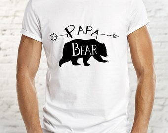Papa Bear, Daddy Bear, Custom Shirt for Dad, Personalize a Free Shirt for Dad, Bear Shirt for Papa, Bear Shirt for Dad, Mens Bear Tee