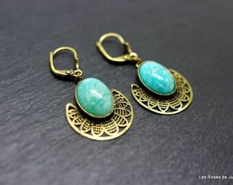 Earrings art deco earrings art deco amazonite