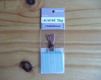 Vellum Get Well Tag.  One embellishment.  Perfect for scrapbooking, card making, gifts or crafts.