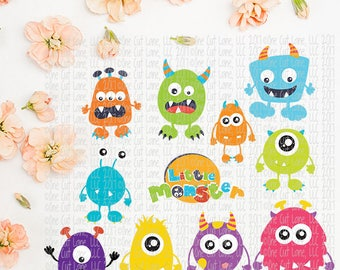 SVG, DXF, Pdf, Studio3 Cut file, CF195-205 Monster, cut file, scrapbook file, Monster Bundle cut files
