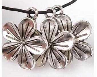Flowers - Charm's charm pendant silver - 20 mm approx.