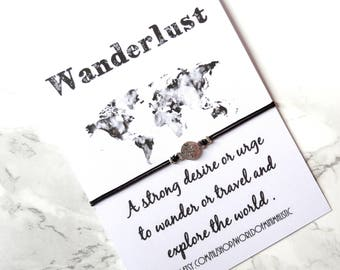 Wanderlust bracelet, compass bracelet, red string bracelet, wish bracelet, dainty minimalist bracelet, delicate bracelet,friendship bracelet