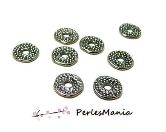 40 gorgeous GUN METAL ref 71Y hammered rings