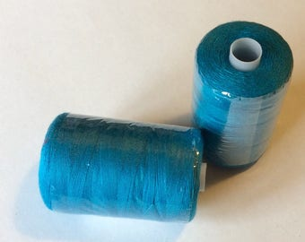 Sewing thread, 500yds or 407m, teal