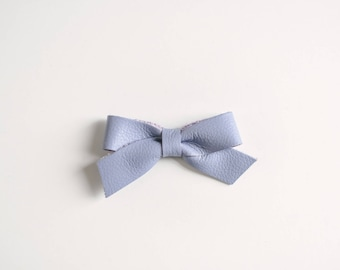 Lavender Leather Skinny Bow
