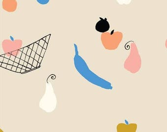 Fruit Bowl - To Market To Market - Emily Isabella - Cloud9 Fabrics - Organic Cotton Fabric By the Half Yard