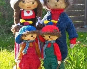 Haakpatroon complete boerenfamilie
